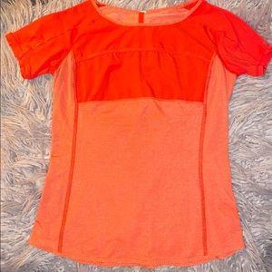 Orange Coral Lululemon T Shirt